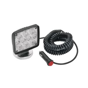 Rectangular Auxiliary LED Work Light with 19' Coiled Cord and Magnetic Base