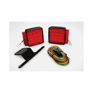 LED Submersible Combination Taillight Kit with 25' Wire Harness for Trailers Under 80""
