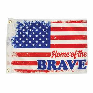 "Home of the Brave Flag, 12"" x 18"""