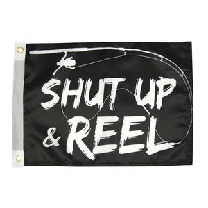 "Shut Up and Reel Flag, 12"" x 18"""