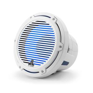 "M6-8IB-C-GwGw-i-4 8"" Marine Subwoofer Driver, White Classic Grille with RGB LED Lighting"