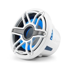 "M6-10IB-S-GwGw-i-4 10"" Marine Subwoofer Driver, White Sport Grille with RGB LED Lighting"