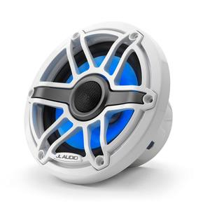 "M6-650X-S-GwGw-i 6.5"" Marine Coaxial Speakers, White Sport Grilles with RGB LED Lighting"