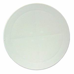 "8"" White Sure-Seal Pry-Out Deck Plate"