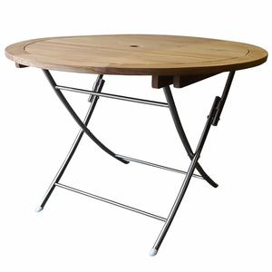 Chadwick Teak Folding Table with Stainless Steel Legs