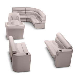 Rear Entry Pontoon Seating Kit, Dove Gray