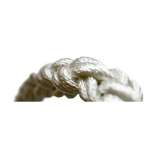 "1/2"" Dia. 8-Plait Geo Square Line, White, Sold by the Foot"