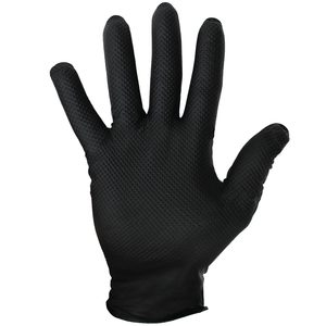Nitrile Disposable Powder Free Gloves, X-Large, Black, Box of 50