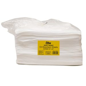 "18"" x 15"" Heavy Weight Oil Absorbent Sheets, 50-Pack"