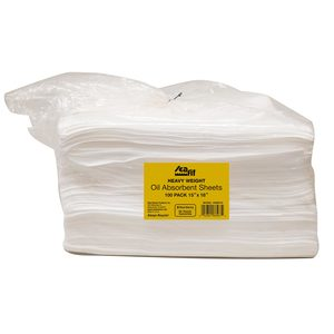 "18"" x 15"" Heavy Weight Oil Absorbent Sheets, 100-Pack"
