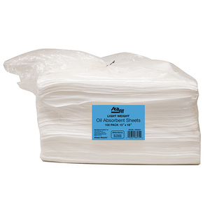 "18"" x 15"" Light Weight Oil Absorbent Sheets, 100-Pack"