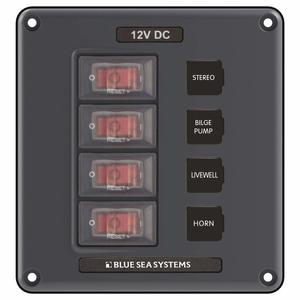 Water-Resistant Circuit Breaker Switch Panel, 4 Positions