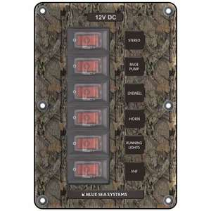 Water-Resistant Circuit Breaker Switch Panel, 6 Positions