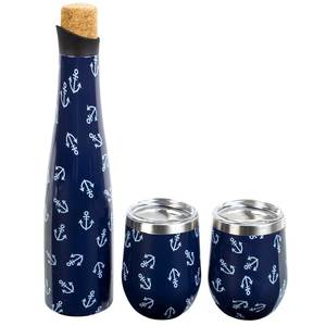 Captain's Party Set Wine Bottle & Tumbler Gift Set