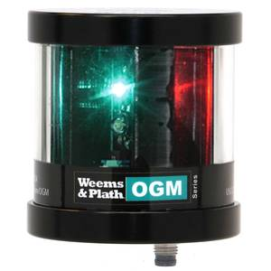 OGM Series LX Collection Mast Mount LED Tri-Color Navigation Light with Strobe