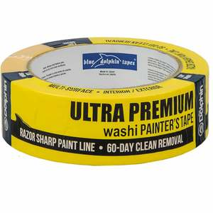 "1 1/2"" Ultra Premium Washi Painters Tape, Yellow"