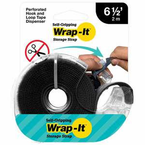 Self-Gripping Hook and Loop Roll, Black