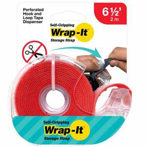 Self-Gripping Hook and Loop Roll, Red