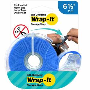 Self-Gripping Hook and Loop Roll, Blue