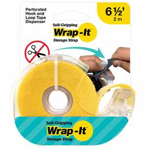 Self-Gripping Hook and Loop Roll, Yellow