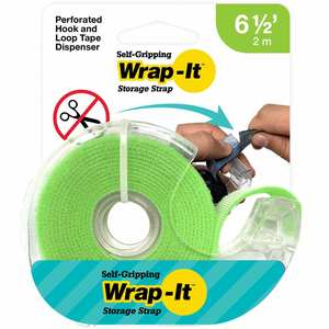 Self-Gripping Hook and Loop Roll, Green