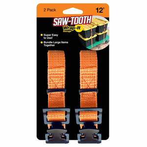 12' Saw-Tooth Storage Straps, 2-Pack