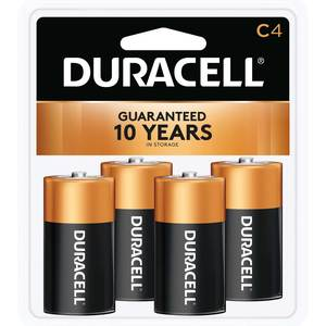 "Coppertop ""C"" Batteries, 4-Pack"