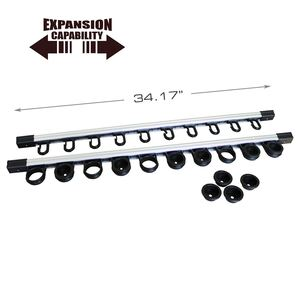 All Weather 3 in 1, Aluminum Expandable 10 Rod Rack