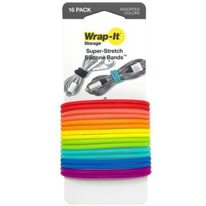 Silicone Bands, 16-Pack, Multi-Color
