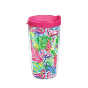 16 oz. Bright Flamingo Tumbler with Lid