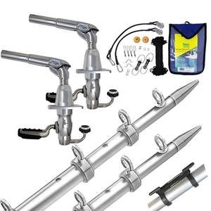 18' Grand Slam 390 Outrigger Kit, Silver/Silver