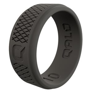 Men's Crosshatch Q2X Silicone Ring, Size 11