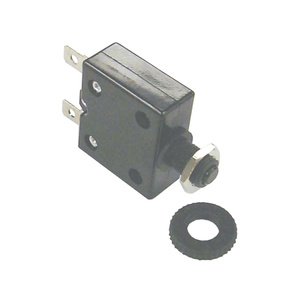 Push Button Circuit Breaker, Resettable, 10A