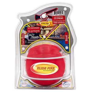 "6"" Elide Fire Ball Fire Extinguisher with Traditional Mounting Bracket"
