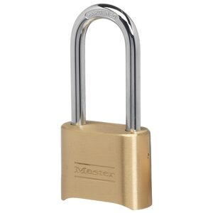 "2"" Wide Resettable Combination Brass Padlock with 2-1/4"" Shackle"