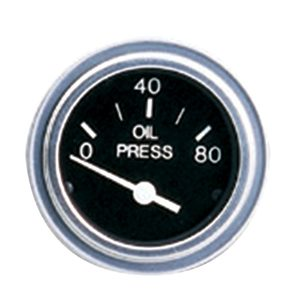 Heavy-Duty Series Oil Pressure Gauge, 0-80PSI