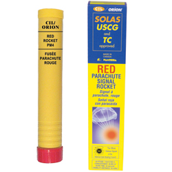 Red Parachute SOLAS Signal Rocket