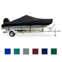 "Inshore Fishing Boat Cover, OB, Pacific Blue, Hot Shot, 12'5""-13'4"", 66"" Beam"