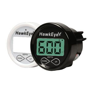Hawkeye DepthTrax 2B Digital Depth Sounder, Transom-mount/In-hull Transducer