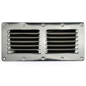 "Flat Louvered Ventilator, 4-1/2""H x 9""W"