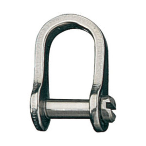 "Stainless Steel Slotted ""D"" Shackle with 1/4"" Pin"