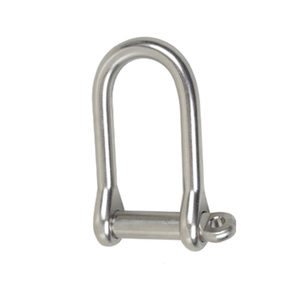 "Stainless Steel Wide ""D"" Shackle with 1/4"" Pin"
