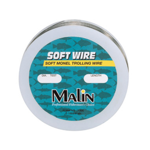 Soft Monel Trolling Wire, 300', 40 lb, 0.024 Dia