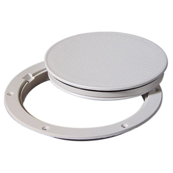 "Pry-Out Deck Plate, 8"", White"