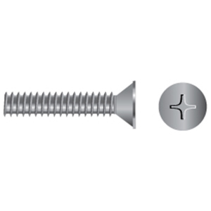 Stainless Steel Flat Head Phillips Machine Screws #10-24 x 1 Qty-50