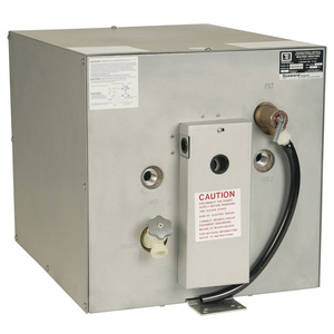 11 Gallon Water Heater with Galvanized Steel Case and Rear-Mounted Heat Exchanger, 120V AC