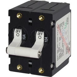 A-Series Double Pole White Toggle Circuit Breakers