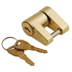 Brass Trailer Coupler Lock