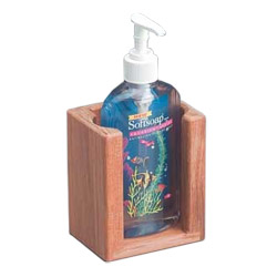 Teak Soft Soap Dispenser Rack