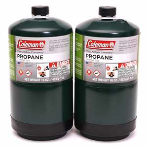 Disposable Propane Cylinders, 2-Pack